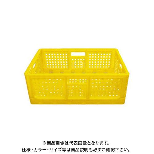 【直送品】安全興業 折りたたみコンテナ 黄 550×370×200mm (10入)
