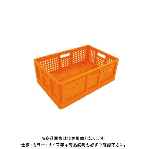 【直送品】安全興業 折りたたみコンテナ オレンジ 550×370×200mm (10入)