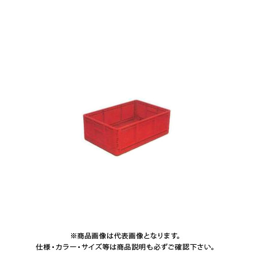 【直送品】安全興業 折りたたみBOX 赤 550×370×200mm 収納時:高さ56mm (10入)