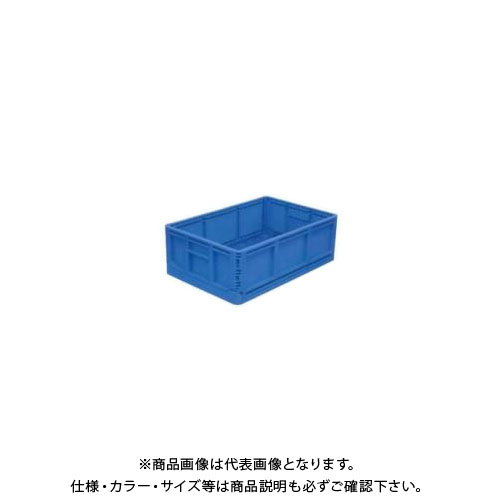 【直送品】安全興業 折りたたみBOX 青 550×370×200mm 収納時:高さ56mm (10入)
