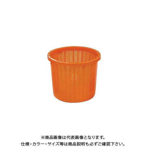 【直送品】安全興業 丸型収穫かご オレンジ(ベルト付) 中 330×275mm (20入)