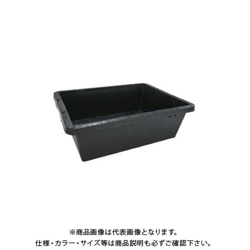 【直送品】安全興業 プラ箱 40 黒 497(600)×360(455)×190mm (10入)