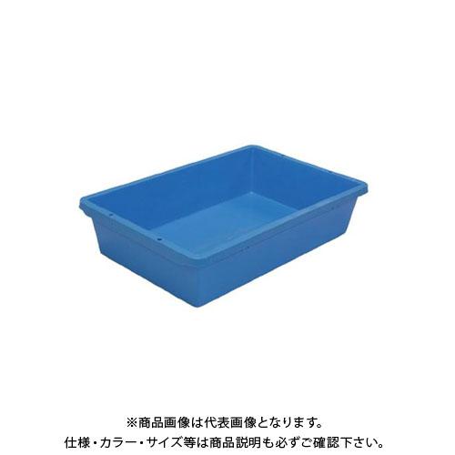 【直送品】安全興業 トロ箱 80 青 807(911)×500(602)×207mm (4入)