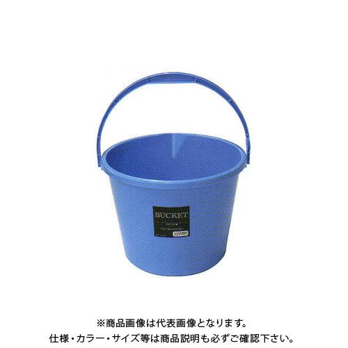 【直送品】安全興業 バケツ 10L 青 300φ×235mm (40入)