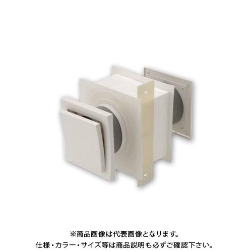 【運賃見積り】【直送品】日本住環境 給気口 スクウェアフロー黒(5個) (031106003)