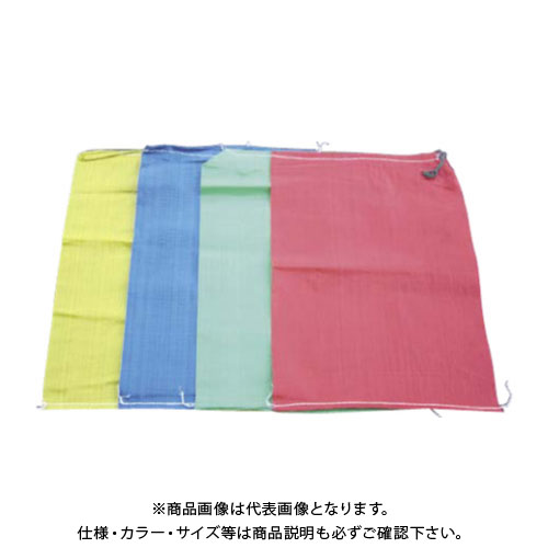 【直送品】エムエフ カラー土のう袋 赤 (400枚入) 480×620mm