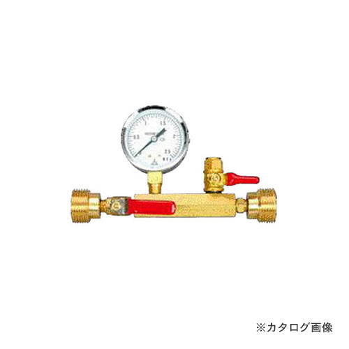 アックスブレーン 水圧テストゲージ 舶来 (金門)型、呼び径20用 圧力計60φ×2.5MPa付 TG20-14