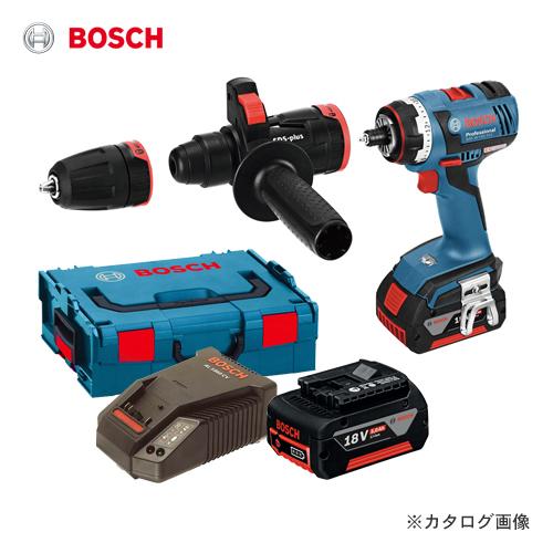 ボッシュ BOSCH GSR18V-ECFC2 18V バッテリーマルチドライバードリル (5.0Ahバッテリー2個、充電器、アダプター2種類、キャリングケース付)