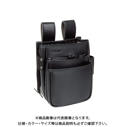 高級人造皮革製の腰袋 5☆好評 ポケット3段式 デンサン ついに再販開始 DENSAN 電工プロハイポーチ JND-833SW