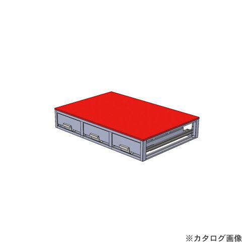 【直送品】デンサン DENSAN システムキャビネット 3列引き出し SCT-F03
