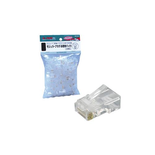 ジェフコム JEFCOM モジュラープラグ応(単線専用) お得用パック 入数100個 TP-MJS-808