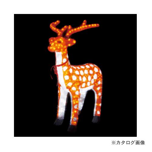 【直送品】ジェフコム JEFCOM LED ジョイントモチーフ シカ(大) SJ-F22-JT