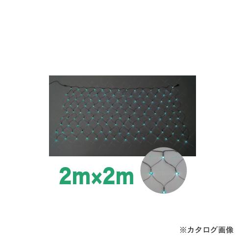 ジェフコム JEFCOM LEDクロスネット 2m×2m (緑・緑) SJ-N20-GG