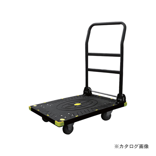 【運賃見積り】【直送品】アイガーツール 静音カラー台車ワイド ブラック 300kg 900-L3