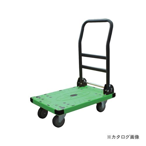 アイガーツール 静音カラー台車ワイド グリーン 200kg 800-L2