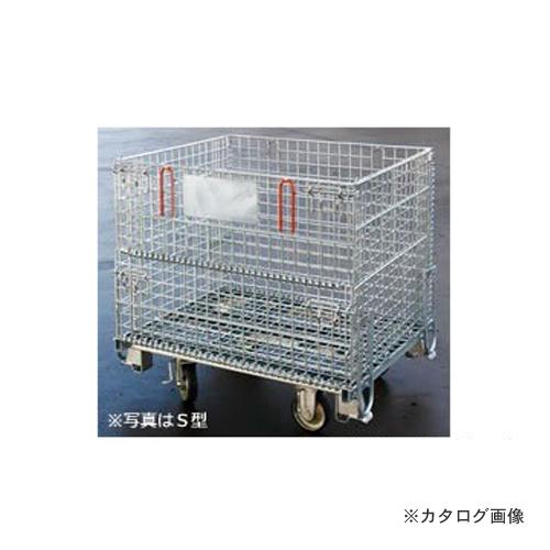 【運賃見積り】【直送品】 伊藤製作所 123 吊り上げ式かご型パレットキャスター付 S型 1台 PM-SPC