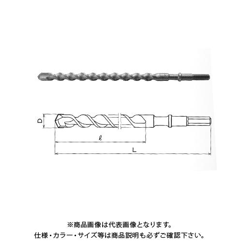 関西工具製作所 六角軸ハンマー・ドリルビット 42.0mm (D) x 280mm (L) 1本 2100028420