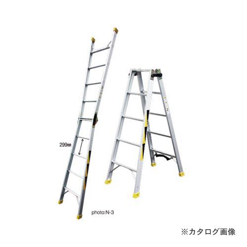 【直送品】ナカオ N(通信業界用昇柱兼用はしご) N-1