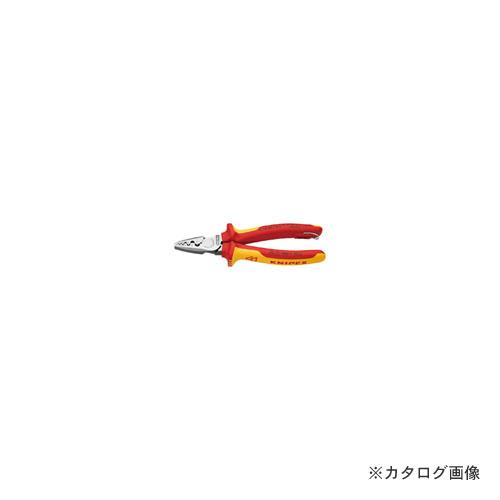 クニペックス KNIPEX 9778-180TBK 絶縁圧着ペンチ 落下防止 BK