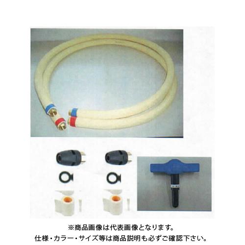 TA-ECパイプワンタッチ式配管キット2m 13A×2m 部材セット 1セット TA-EC302P