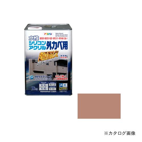 アサヒペン AP 水性シリコンアクリル外かべ用 16KG ソフトオーカー