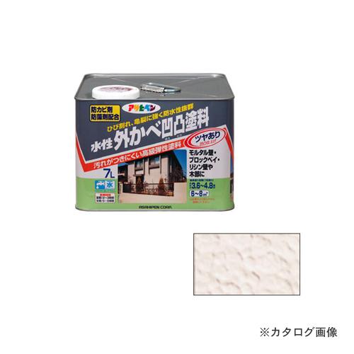 アサヒペン AP水性外かべ凹凸塗料ツヤあり 7L ベージュ