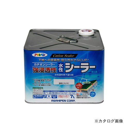 アサヒペン AP 強浸透性水性シーラー 7L 透明(クリヤ)