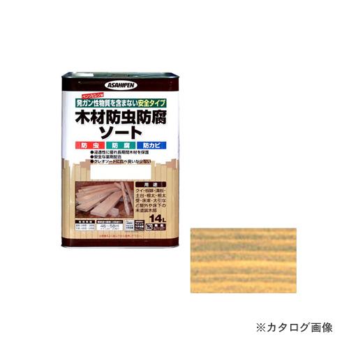 アサヒペン AP 木材防虫防腐ソート 14L 透明(クリヤ)