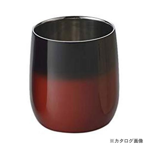 アサヒ 食楽工房 漆磨 2重構造ロックカップダルマ(赤彩) SCW-D602