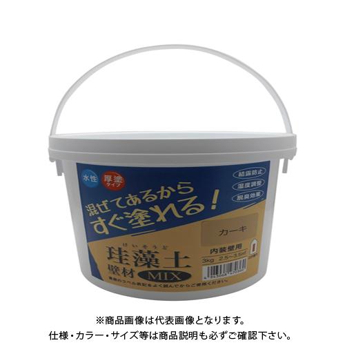 フジワラ 珪藻土 壁材MIX オンライン限定商品 カーキ メイルオーダー 3kg