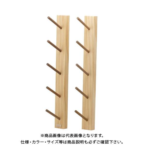 ライフサーブ アクアリデオ EASY RAKE for Rod モダンスタイル 5段 (無塗装) 2本1セット