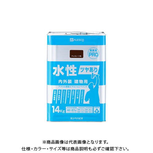カンペハピオ 水性ツヤあり建物用PRO チョコレート 14K 00447650243140