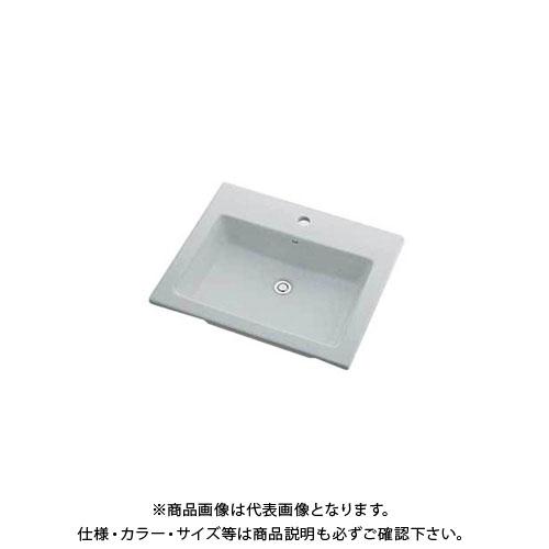 カクダイ 角型洗面器/1ホール 493-008