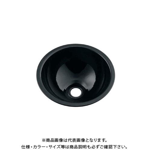 カクダイ 丸型手洗器/ブラック 493-026-D