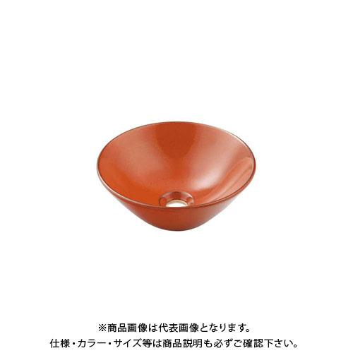 カクダイ 丸型手洗器/鉄赤 493-011-R