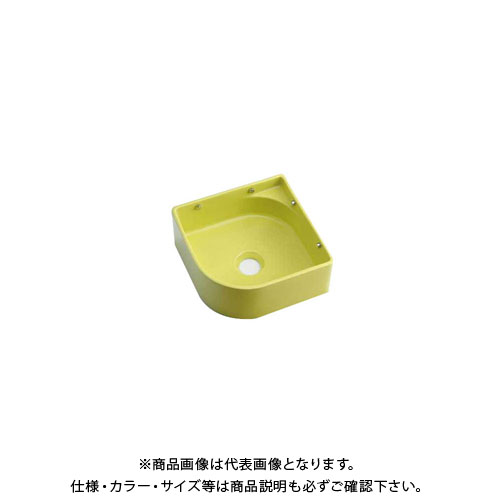 カクダイ 壁掛手洗器/イエローグリーン 493-048-YG