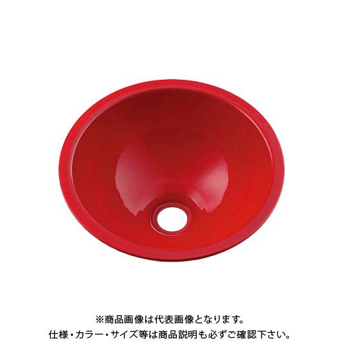 カクダイ 丸型手洗器/レッド 493-026-R