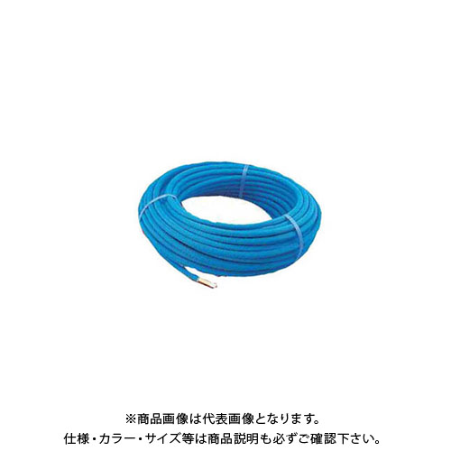 カクダイ 保温材つき架橋ポリエチレン管(青) 50m 672-113-50B