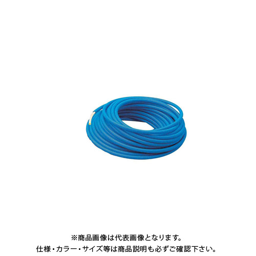 カクダイ サヤ管つき架橋ポリエチレン管(青) 50m 672-131-50B
