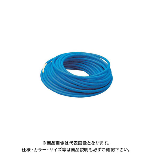 カクダイ サヤ管つき架橋ポリエチレン管(青) 50m 672-132-50B