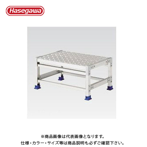 【直送品】ハセガワ 長谷川工業 組立式作業台 ライトステップ シマイタタイプ DB2.0-1-4S 16828