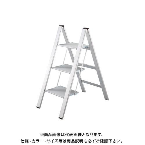 【個別送料1000円】【直送品】ハセガワ 長谷川工業 踏台 スリムステップ シルバー SJ-3d(SI) 17405