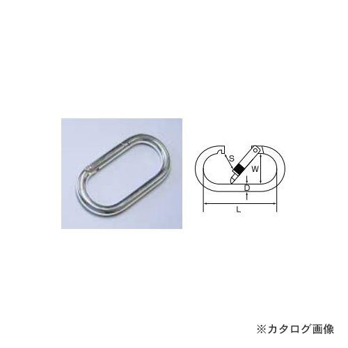 ひめじや HIMEJIYA 鉄クロームカラビナ(ナット付) 10入 K-2C