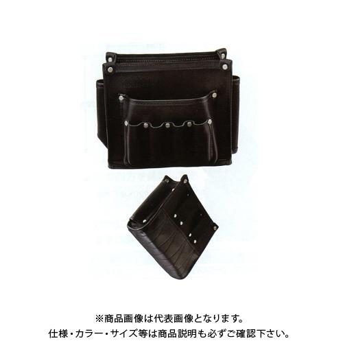 広島 HIROSHIMA 本皮製腰袋 240 ブラック 198-12