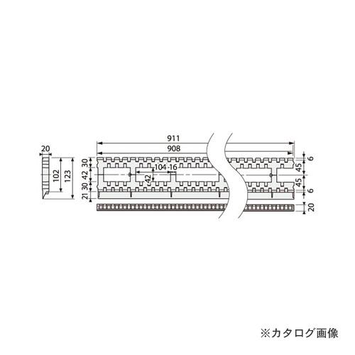 城東テクノ Joto モルタル止付キソパッキンロング 123×911×20mm ブラック (20本) KP-L102MS