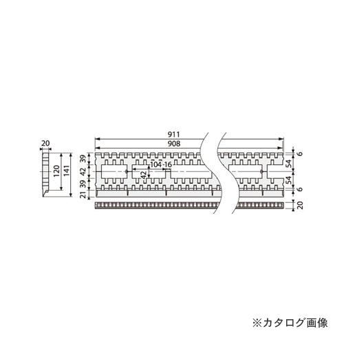城東テクノ Joto モルタル止付キソパッキンロング 141×911×20mm ブラック (20本) KP-L120MS