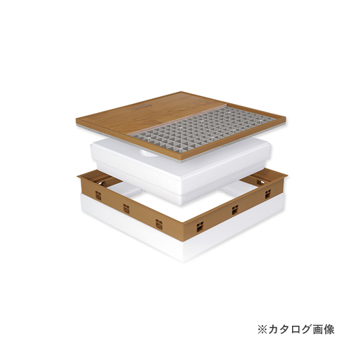 城東テクノ Joto 高気密型床下点検口 (高断熱型450×600mm) クッションフロア対応 ダークブラウン (1セット) SPF-R45C-BL2-DB