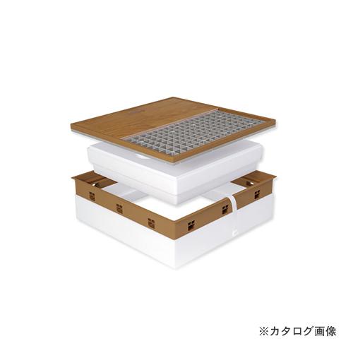 城東テクノ Joto 高気密型床下点検口 (寒冷地高断熱型450×600mm) フローリング12mm対応 ダークブラウン (1セット) SPF-R45F12-BL3-DB