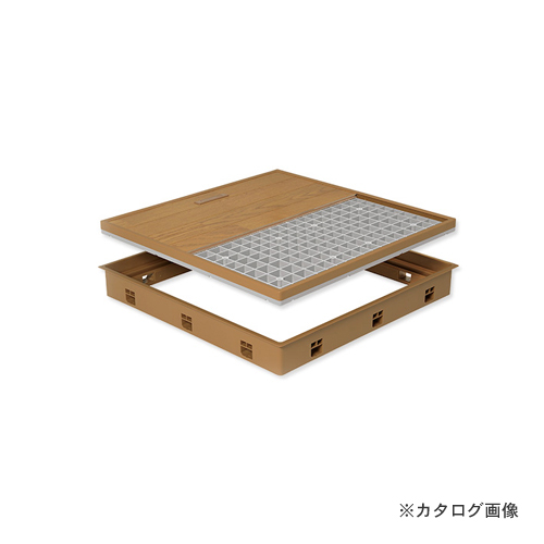 城東テクノ Joto 高気密型床下点検口 (標準型600×600mm) フローリング15mm対応 ミディアムブラウン (1セット) SPF-R6060F15-MB