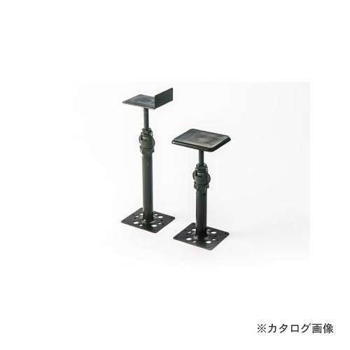 城東テクノ Joto ゆかづか 大引受 Tタイプ 462mm~617mm ブラック(電気亜鉛メッキ) (20コ) YM-4562T